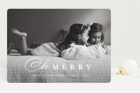 Classic Whimsy Christmas Photo Cards