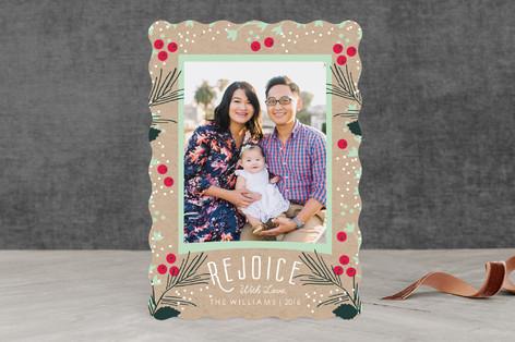 Foliage Frame Christmas Photo Cards