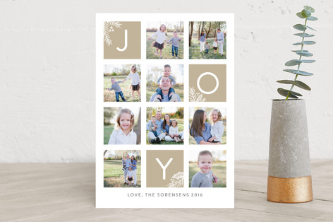 Organic Joy Christmas Photo Cards