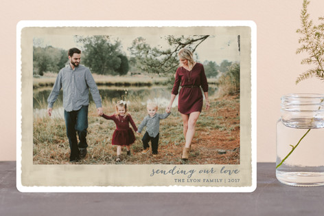 Deckled Merrier than Ever Christmas Photo Cards