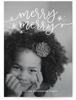 Double Merry Christmas Photo Cards