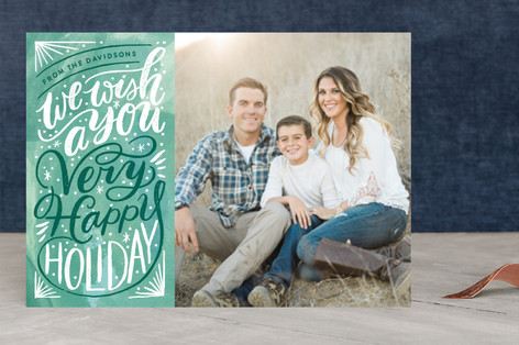 Great Joy Typography Christmas Photo Cards