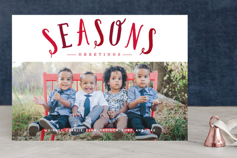 Blessed Overlay Christmas Photo Cards
