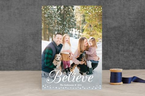 Believe Christmas Photo Cards