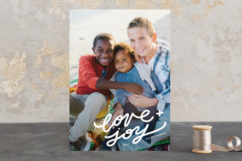 the corner of merry and bright Christmas Photo Cards