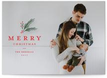 Classic foliage overlay Christmas Photo Cards