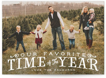 Our Favorite Time Christmas Photo Cards