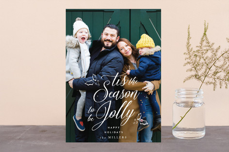 Tis the Season to be Jolly Christmas Photo Cards