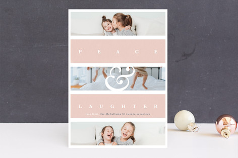 Family Faith Christmas Photo Cards