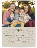 Honey Bee Rosh Hashanah Cards