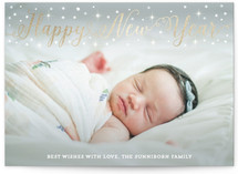 Sparkle Confetti New Year's Photo Cards