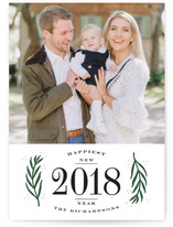 Branched Border New Year's Photo Cards