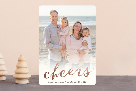 Sparkle Cheers New Year's Photo Cards