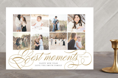 Best Moments New Year's Photo Cards