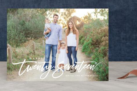 Happy Twenty Seventeen New Year's Photo Cards