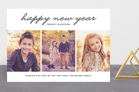 New Year 3 Photo New Year's Photo Cards