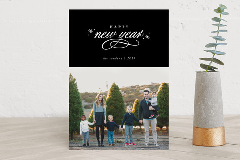 flecks of foil New Year's Photo Cards