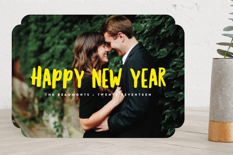 Simple New Year New Year's Photo Cards