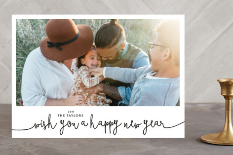 Wish You a Happy New Year New Year's Photo Cards