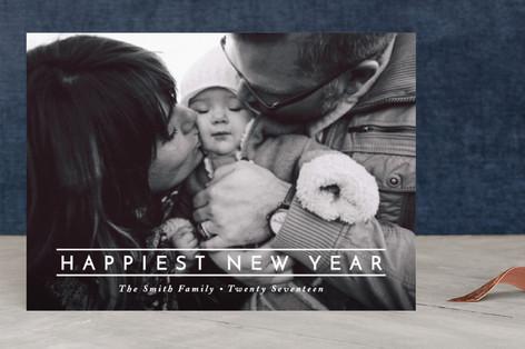 Happiest Twenty Seventeen New Year's Photo Cards