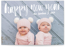 Brushed New Year New Year's Photo Cards