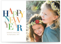 Chic Typography New Year's Photo Cards