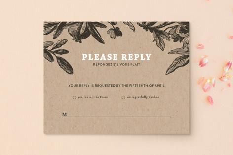 Love in Bloom RSVP Postcards