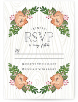 Rustic Wooded Romance RSVP Postcards