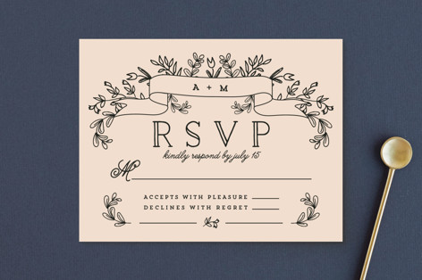 Wedding Bouquet RSVP Postcards