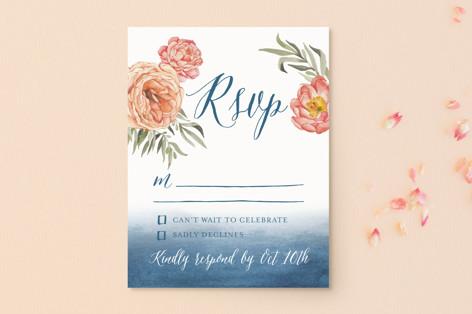 Garden Rose RSVP Postcards