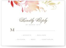 Stately Florals RSVP Postcards