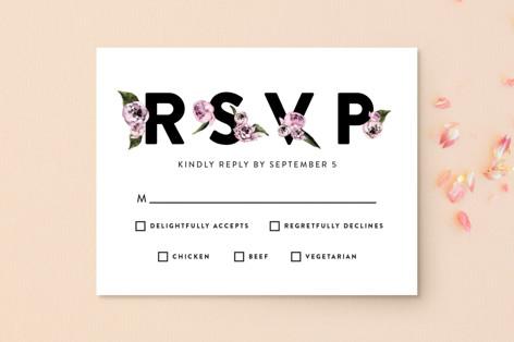Peony RSVP Postcards