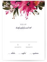 Peeking Florals RSVP Postcards