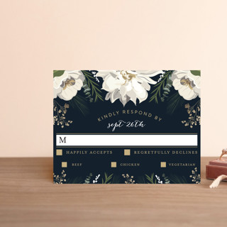 Peonies & Berries RSVP Postcards