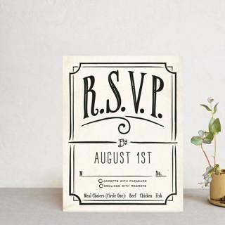 Inked RSVP Postcards