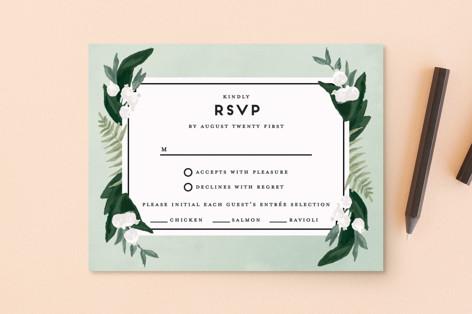 Botanical Name Plate RSVP Postcards