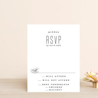 Scripted Ampersand RSVP Postcards