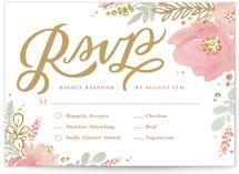 Floral Vignette RSVP Postcards
