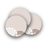 Patterned Floral Kraft Rounded Stickers