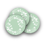 Wooded Blooms Rounded Stickers