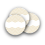 Sophisticated Chevron Rounded Stickers