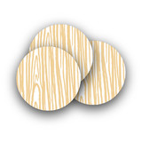 Wood Grain Rounded Stickers