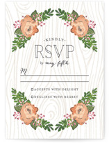 Rustic Wooded Romance RSVP Cards