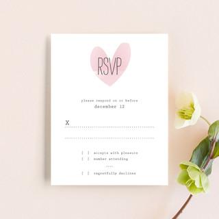 Typewritten Heart RSVP Cards