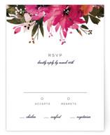 Peeking Florals RSVP Cards