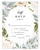 Peony Floral Frame RSVP Cards