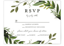 Vines of Green RSVP Cards
