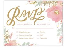Floral Vignette RSVP Cards