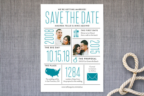 The Stats Save the Date Cards