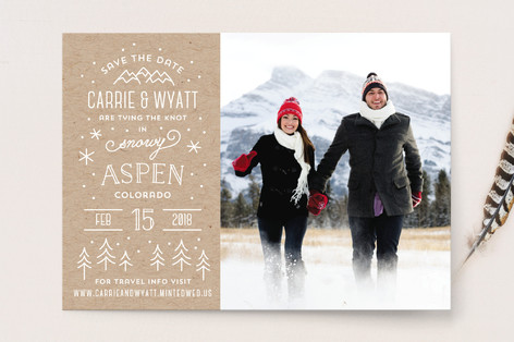 Somewhere Snowy Save the Date Cards